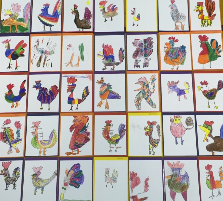 picasso-roosters